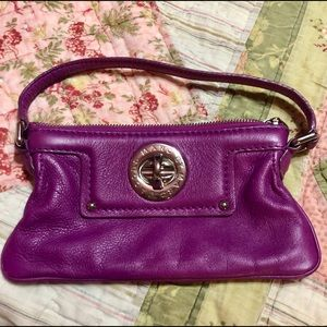 Marc Jacobs Purple Leather Small Handbag Purse